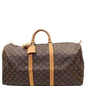 LOUIS VUITTON KEEPALL 55 MONOGRAM CANVAS TRAVEL